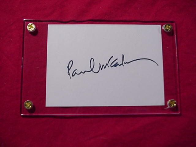 Primary image for PAUL MCCARTNEY  Autographed Signed Signature Cut w/COA - 30687