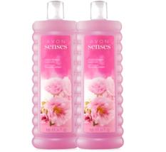 Avon Senses Cherry Blossom - 1 Set of 2 - 24.0 Fluid Ounces Bubble Bath - $26.44