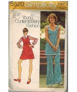 5520 Vintage Simplicity Patrón Costura Mujer Mini Jersey Túnica Pantalon... - $4.83