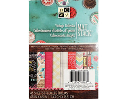 """DCWV Vintage Collector Mat Stack, 48 Sheets, 4.5"""" x 6.5"""", Cardstock"""