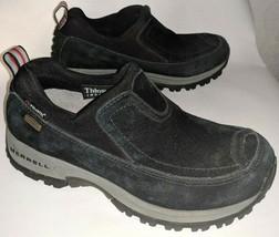 Merrell Womens 6 Winter Shoes Slip On Polar Moc Waterproof Insulated Bla... - $24.18