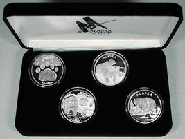 Alaska Mint 4 - BEAR SET Silver Medallion Proof  4 oz - $391.04