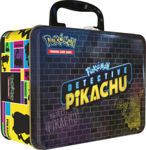 Pokemon TCG Detective Pikachu Collectors Chest Lunch Box 9 Booster Packs... - $27.50