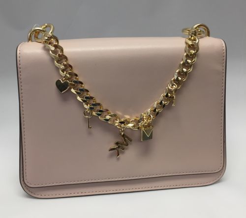 cd59683138 12. 12. Michael Kors Large Mott Charm Swag Shoulder Bag Soft Pink Gold  Crossbody  Michael Kors Large ...