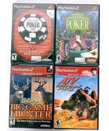 Playstation 2 Sport Game Lot of 4 WSOP 2008 WCP ATV Offroad Fury Big Gam... - $15.15