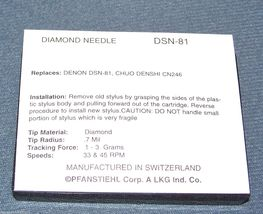 TURNTABLE STYLUS NEEDLE DSN-81 replaces Technica ATN-3606 for Kenwood P-66 N-77 image 3