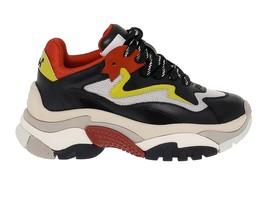 Sneakers ASH ADDICT.NR in pelle e tessuto nero e rosso - Scarpe Donna - $280.06