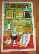 Irish Linen Towel Irish Coffee Recipes different languages Linanne Made ... - $8.99