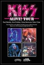 KISS Rock Band - 1976 Miami Jai-Alai Fronton Concert Stand-Up Display - ... - $16.99