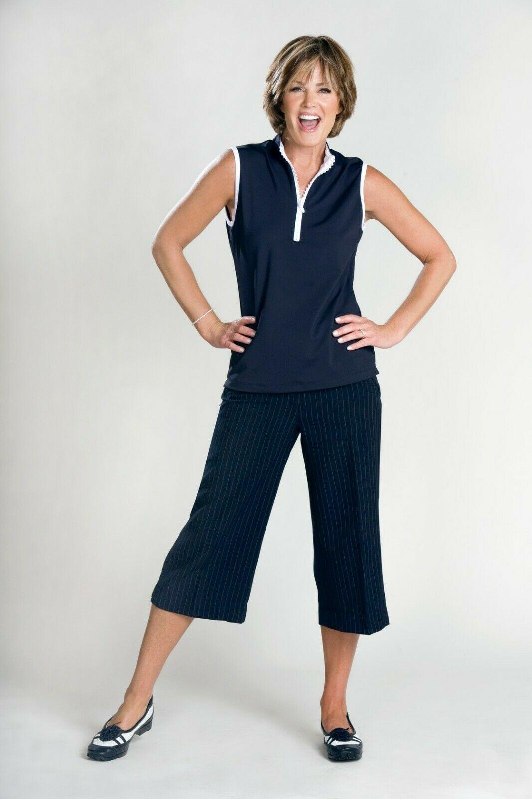 Women's Dark Navy Skort with White Pinstripes - New - Goldenwear image 8