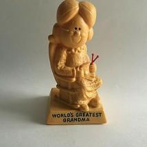 "Vintage 1970's World's Greatest Grandma Figurine Polymer Resin 6 X 3 X 3"" - $9.31"