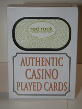 red rock - CASINO * RESORT * SPA - AUTHENTIC CASINO PLAYED CARDS - $10.00