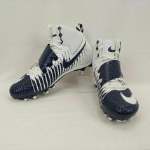 Nike Lunarbeast Strike Pro TD Football Cleats Sz 12.5 Blue and White 847... - $47.50