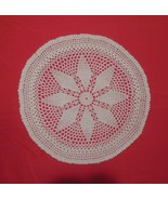 vintage ivory doilies, lace doily 13 1/2 inch round - $10.00