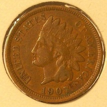 1907 Indian Head Cent VG10 Partial Liberty #0217 - $2.79