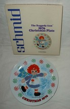 Schmid Raggedy Ann 1976 christmas Plate limited edition collectible - $12.00