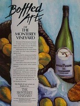 Bottled Art of the Monterey Vineyard CA 1986 Wine AD - $14.99