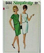 Vintage 1960s Simplicity Sewing Pattern 6444 Two Piece Dress Size 12 32B - $16.19