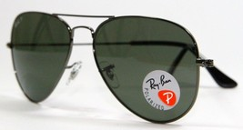 Ray Ban 3025 004/58 Gunmetal Green Polarized Sunglasses 58mm New and Aut... - $103.90