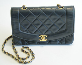 Chanel Lambskin Diana Single Flap Bag Quilted G... - $2,920.50
