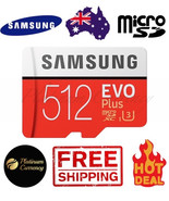 512GB SAMSUNG EVO PLUS MICROSD CARD CLASS 10 U3 4K WITH SD ADAPTER 100R / 90W  - $140.81
