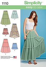 SIMPLICITY Patterns 1110 Misses' Tiered Skirt with Length Variations, A ... - $13.48