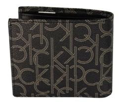 Calvin Klein Ck Men's Classic Leather Coin Case Id Wallet Black 79463 image 2
