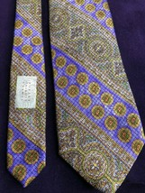 "Robert Talbott Tie Silk 58"" Purple Gold Acanthus Best Of Class Nordstrom... - $59.84"