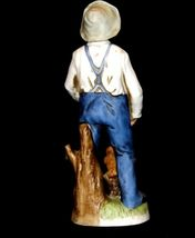 Figurine of a Farmer with Squirrel Homco 1434 AA19-1618 Vintage image 3