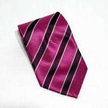 Giorgio Armani Pink Magenta Diagonal Classic Tie New - $24.19