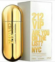 Carolina Herrera 212 Vip Are You On List Eau De Parfum Perfume Spray 2.7oz Nib - $59.34