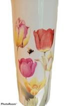 """HALLMARK Nature's Sketchbook Tulip Flower Vase By Marjolein Bastin 8""""  - $15.45"""