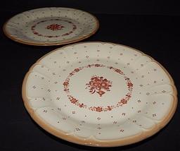 2 Sango Renaissance  Arcadia Brown Stoneware Salad Plates Japan #291 - $24.74