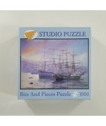 """Bits and Pieces 1000 Piece Puzzle New Frigate and First Rate 20"""" x 27"""" S... - $31.78"""