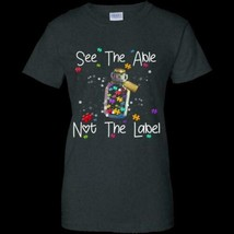 See The Able Not The Label Autism Awareness G200L Ladies Cotton T-Shirt ... - £14.51 GBP+