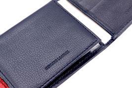 Tommy Hilfiger Men's Premium Leather Double Billfold Passcase Rfid Wallet Navy image 9