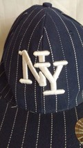 Mens Unique Headwear New York Yankees Striped Logo Baseball Hat XL TNT 59cm 73/8 image 2