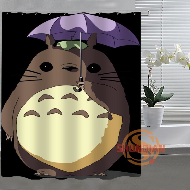 Studio Ghibli Totoro Custom Shower Curtain Bathroom Fabric For Bathroom Decor Ba