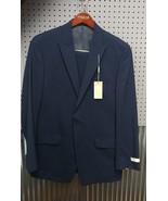 Mens Michael Kors Classic-Fit Navy Pinstriped Suit,  42L 35W - $153.84