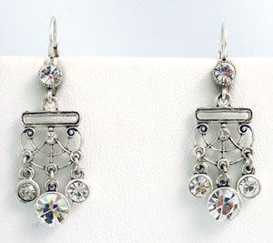 Primary image for Victorian Style Earrings Swarovski Crystals Reproduction