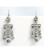 Victorian Style Earrings Swarovski Crystals Reproduction - $34.00
