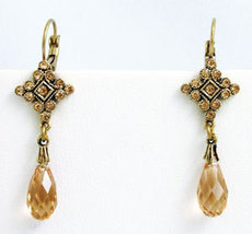 Deco Style Earrings Swarovski Crystals Reproduction - $38.00