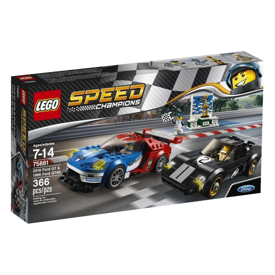LEGO Speed Champions 2016 Ford GT & 1966 Ford GT40 (75881) Car Building Set