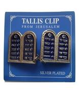 Breast plates silver plated commandments TALIT CLIPS tallis talis tallit... - £10.57 GBP