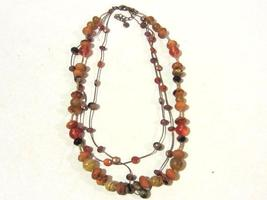 Beautiful Fashion jewelry necklace 3 strand signed Lc - $7.99