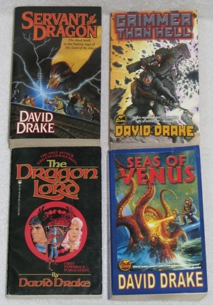 Primary image for Lot of 4 Fantasy/ Sci-Fi Paperback Books by David Drake