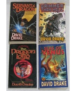 Lot of 4 Fantasy/ Sci-Fi Paperback Books by David Drake  - $7.20