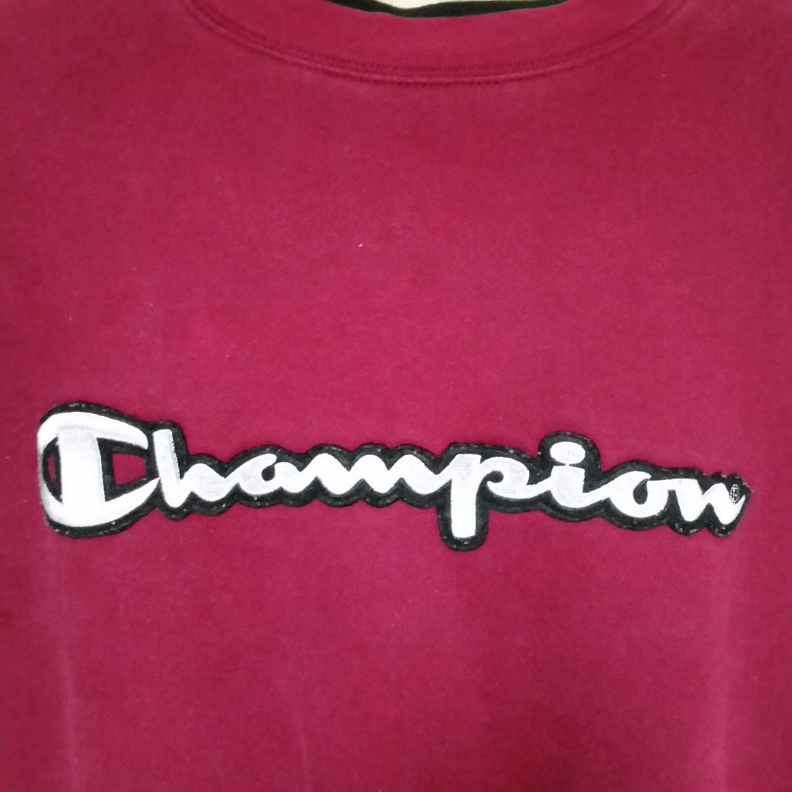 VTG Champion Sweatshirt Pullover Spell Out Embroidered Sportswear 90s Jumper XL
