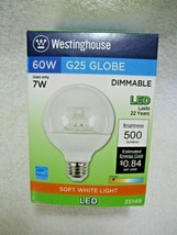 Westinghouse 60W Led Replacement Decorative Globe Bulb Uses 7W Soft White-Home!! - $12.95