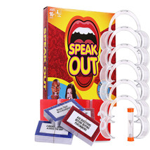 Speak Out Funny Mouthpiece Board Game Challenge Mouthguard Game - $25.55